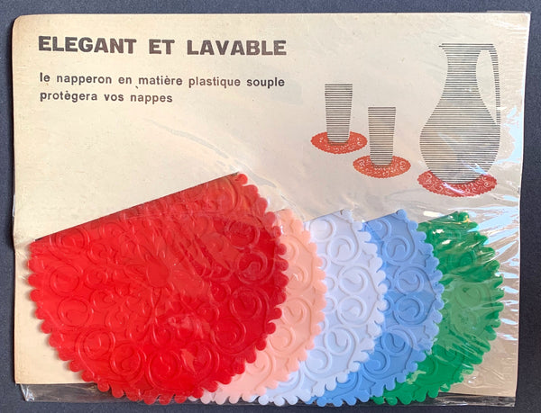 """Elegant"" French 1960s Plastic Table Mats (with many other uses ..)"