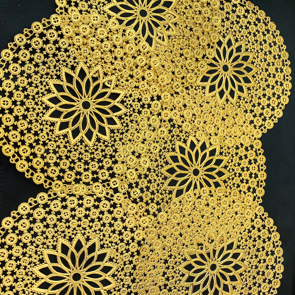 Not Just for Cakes - Dramatic Gold Vintage Doilies  - 20cm/8""