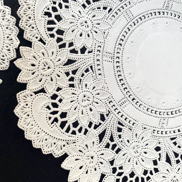 "Lovely Lacey Vintage 7"" Paper Doilies  - For Tea parties or Hours of Creative Fun"