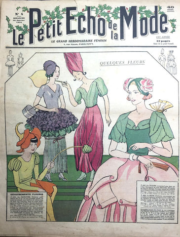 Fancy Dress + Carnival Costumes on Cover + Inside this Jan 1934 French Fashion Paper