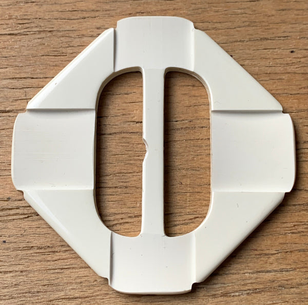 Striking Geometric Deco Celluloid 6cm Buckle