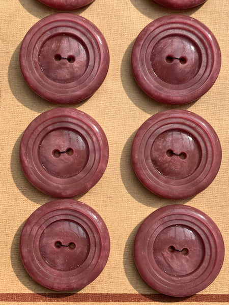 24 Carved Vintage Mulberry 2.2cm Buttons