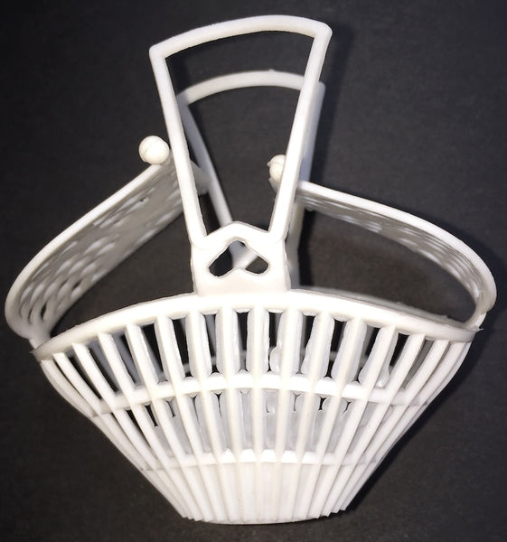 Wonderful Little Vintage Plastic Basket with Swallows on Closeable Lid