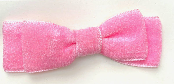Happy Vintage Velvet Bow Hair Clip - Choice of Colours