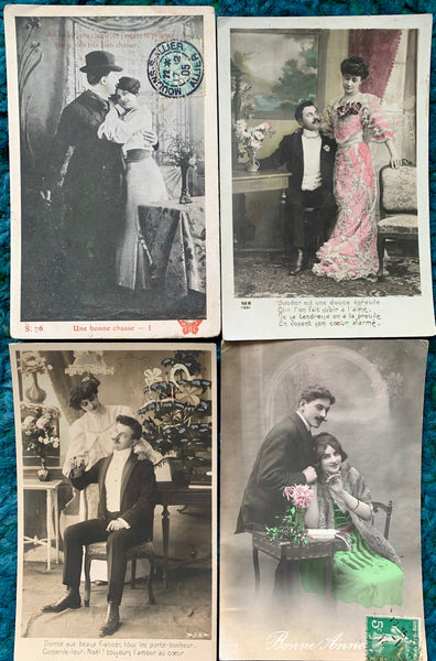 Respectful Affection on 4 1900s French Postcards   (27)