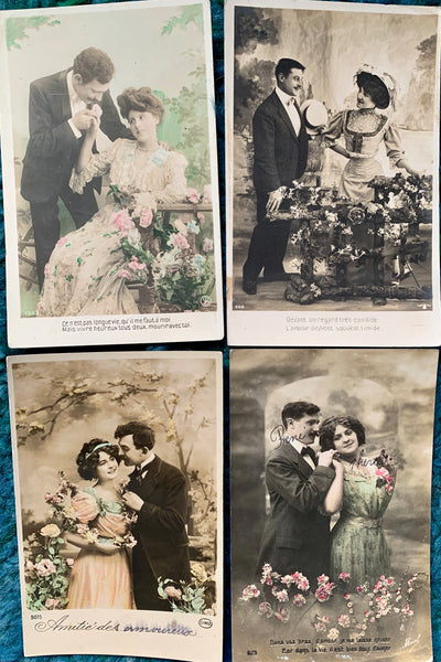 Lovely Dresses and Protestations of Undying Love on 4 old French Postcards circa 1910   (35)