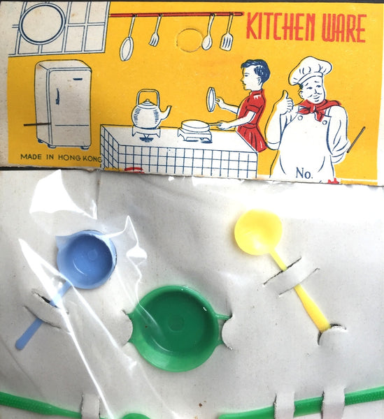 "1950s  KITCHEN WARE"" set - 13 pieces - Made in Hong Kong"
