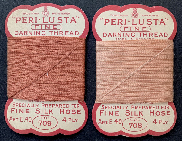 1940s Fine Cotton Darning Thread for Fine Silk Hose