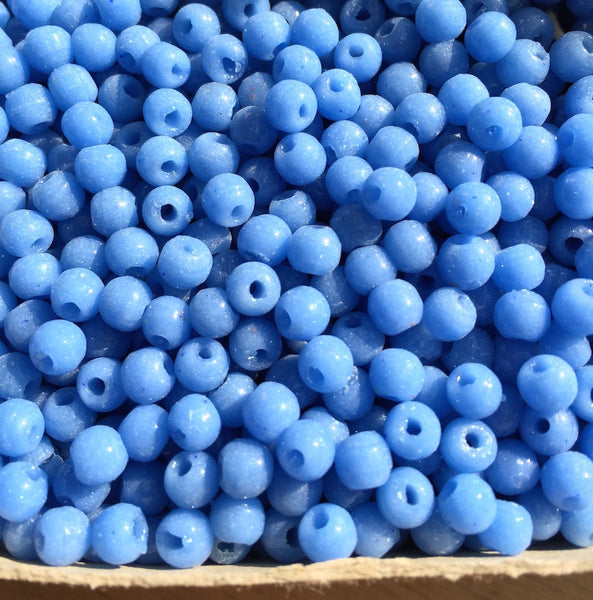 5000 Cornflower Blue Vintage Czech 5mm Glass Beads