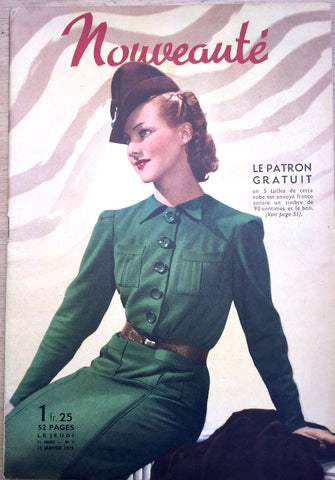 Jan 1939 Fashions in French Fashion Paper Nouveaute