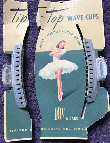 1940s TIP TOP Wave Clips