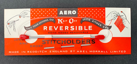 Vintage AERO Reversible Long & Short STITCH HOLDERs Made in England