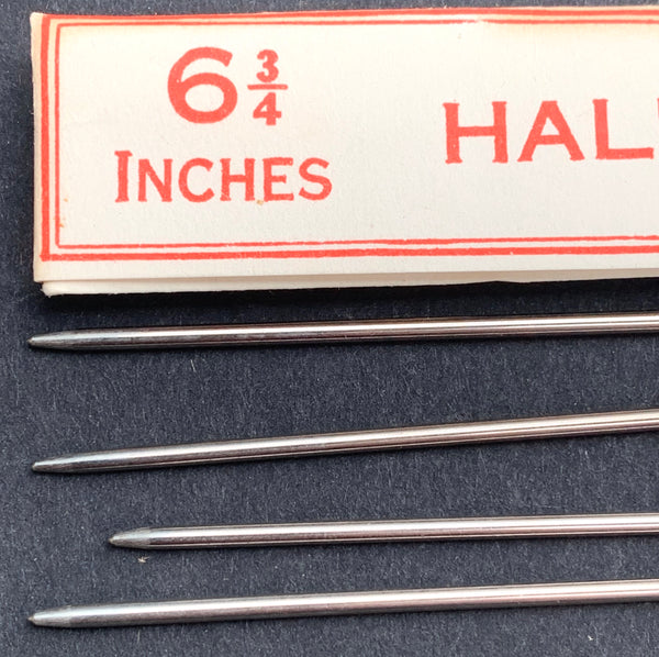 "1 Set of 4 HALL'S STEEL KNITTING PINS 6 3/4""  Made in England"