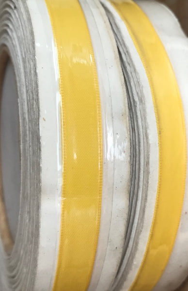 Vibrant Buttercup Yellow Vintage Lustre Ribbon - 18yds long, 8mm wide - Swiss Made