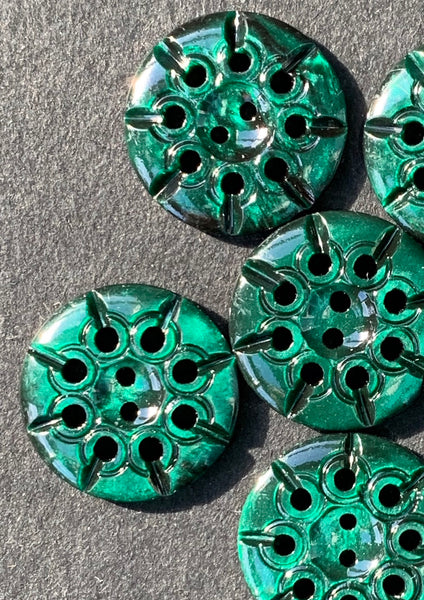 Shiny Jade Green Vintage 1.7cm Buttons