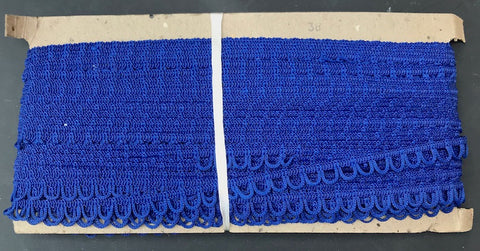 36yds Intense Cobalt Blue Looped Trim - 1cm wide
