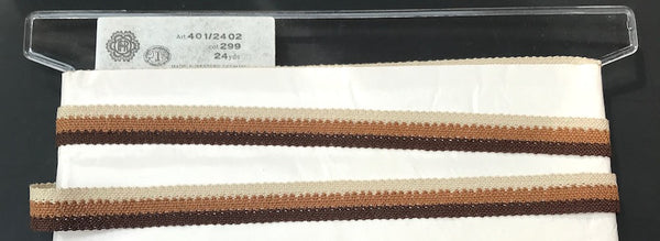 24yds Brown Stripe 1.8cm Trim -  Made in Western Germany in the 1950s.
