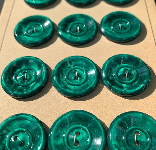 Glowing Jade Green Vintage 2cm Buttons
