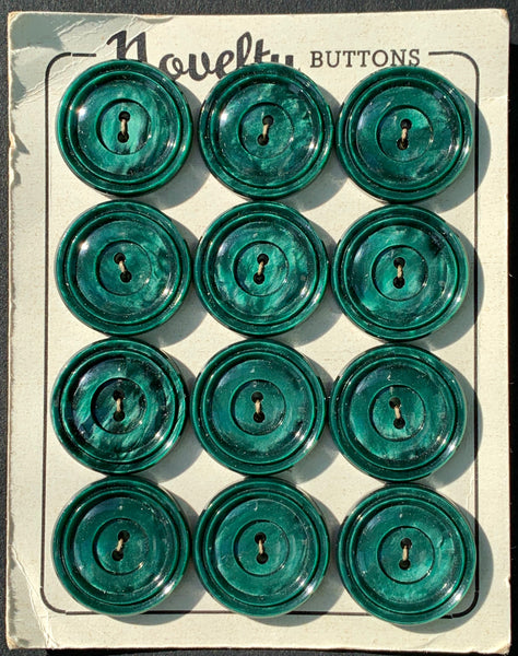 Shimmering Malachite Green Vintage 2.2cm Buttons