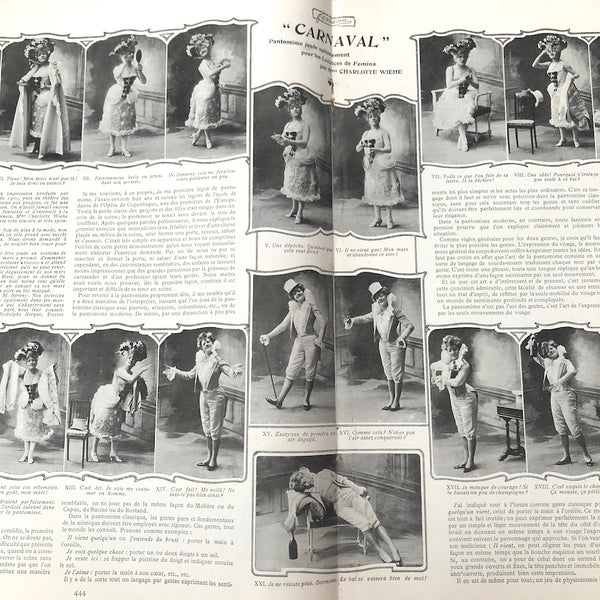 February 1903 French Magazine FEMINA  Lots of Gorgeous Fashion Illustrations & Fascinating Articles.