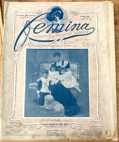 May 1903 French Magazine FEMINA  Fascinating insight into the concerns of well to do Women in the early 20th century.