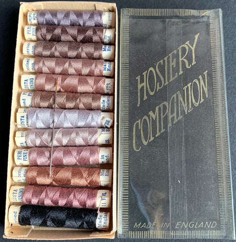 1940s HOSIERY COMPANION 14 spools of Beautiful Soft Colours