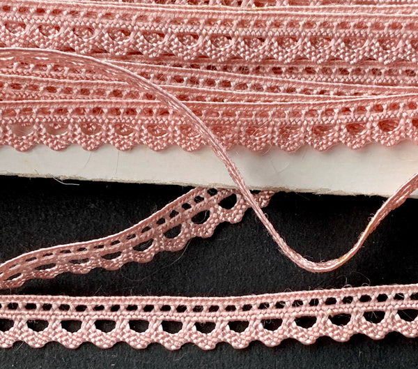 Vintage 7mm wide Baby Pink Trim - Perfect for Dolls Clothes