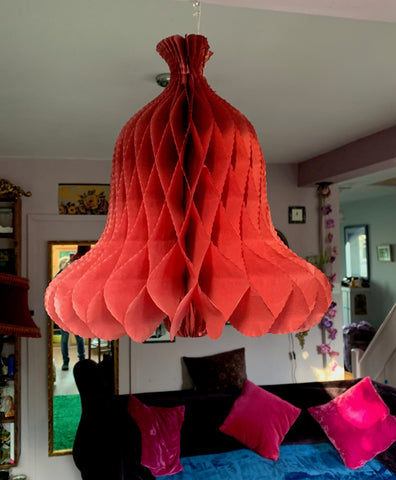BIG 1950s 35cm Paper Bell Christmas Decorations