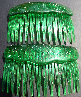 Pair of Very Sparkly Very Bright 1980s Haircombs - Choice of 5 colours