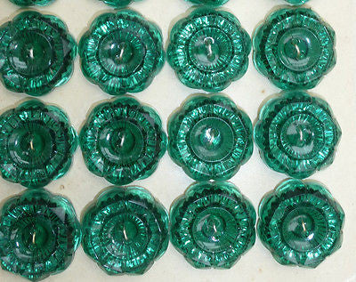 Gorgeous Sparkly 1.7cm Vintage Buttons - Choice of 6 Colours- 24 on a sheet