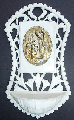Vintage Holy Water Font - Choice of 5 Scenes