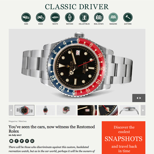 Classic Driver: You've seen the cars, now witness the Restomod Rolex