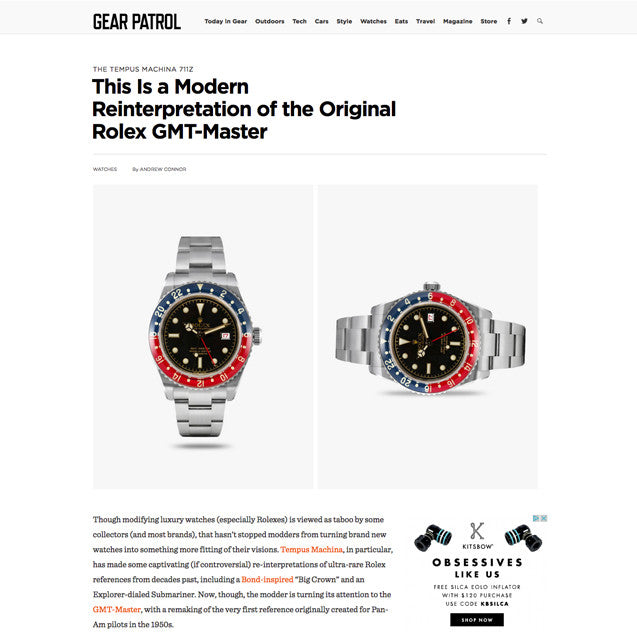 Gear Patrol: This Is a Modern Reinterpretation of the Original Rolex GMT-Master