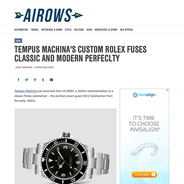 Airows reviews the Tempus Machina 809H Custom Rolex Submarier