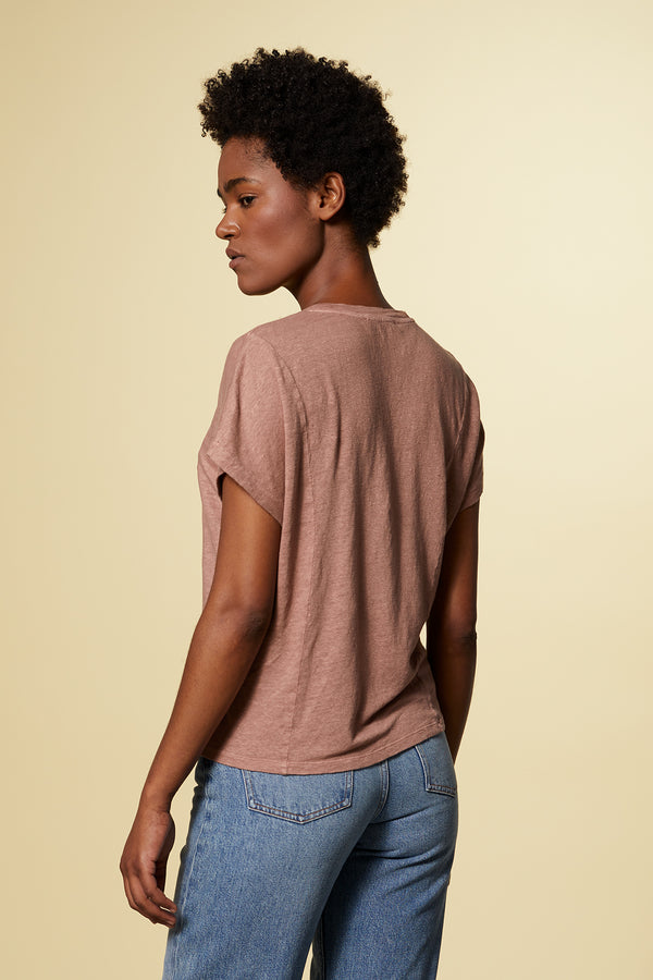 BREEZE | T-Shirt aus Leinen | Natural Dye