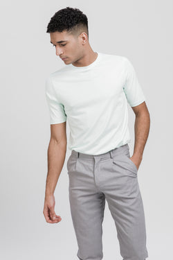 ICONIC T-Shirt in Tencel mint Passform slimfit vordere Ansicht