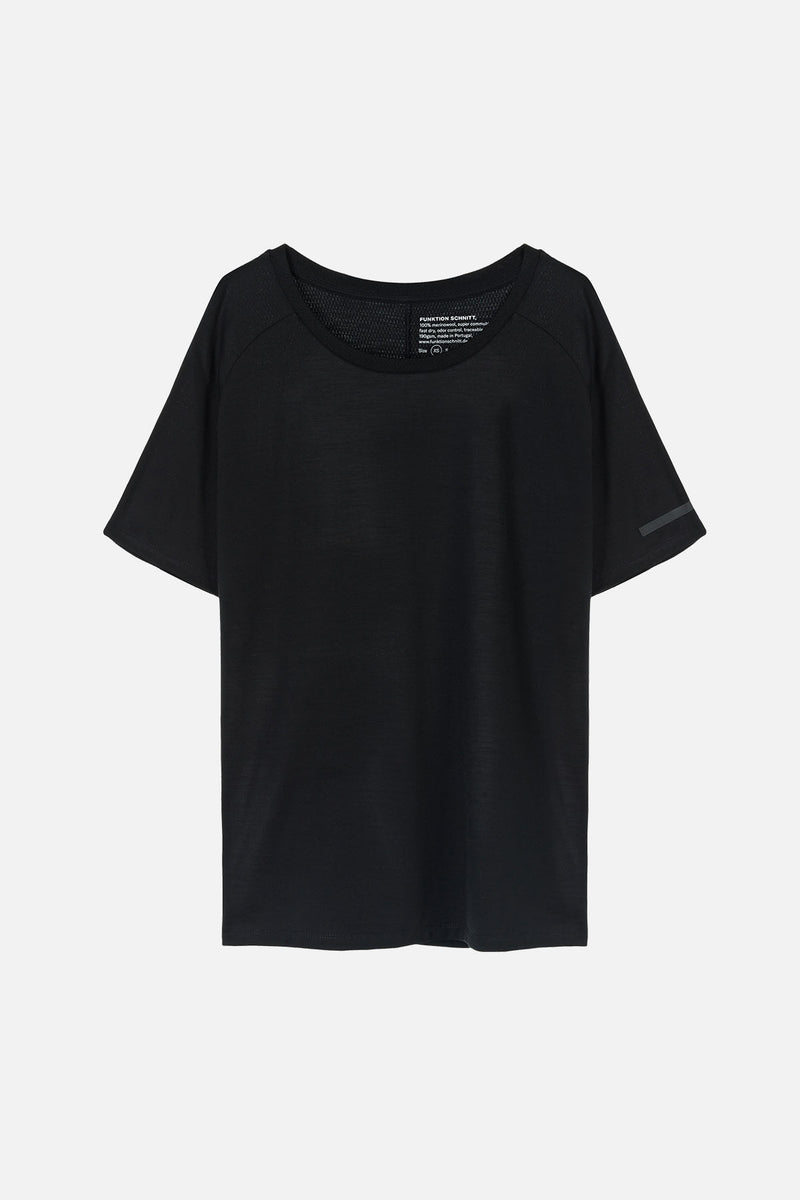 INTENSE T-Shirt in Merino schwarz Passform normal Freisteller