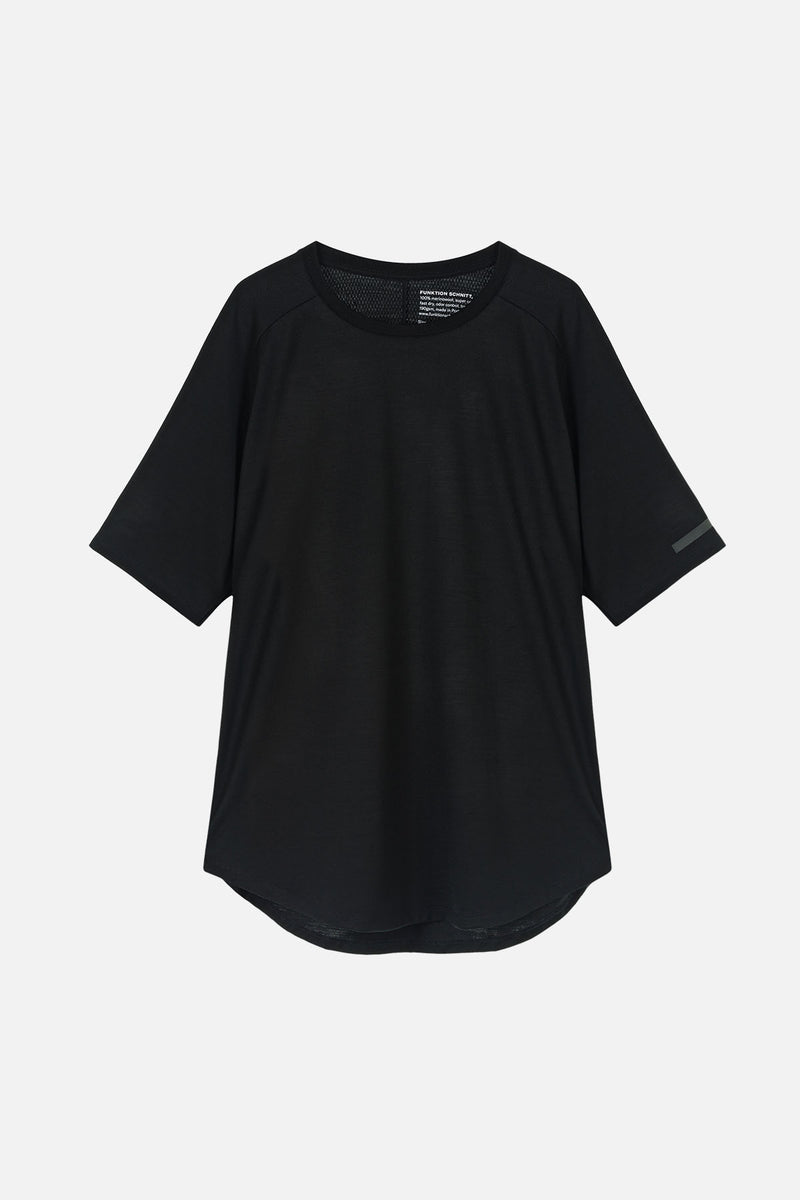 MOTION T-Shirt in Merino schwarz Passform normal Freisteller