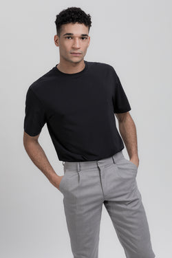 MOVE T-Shirt in SeaCell schwarz Passform relaxed vordere Ansicht