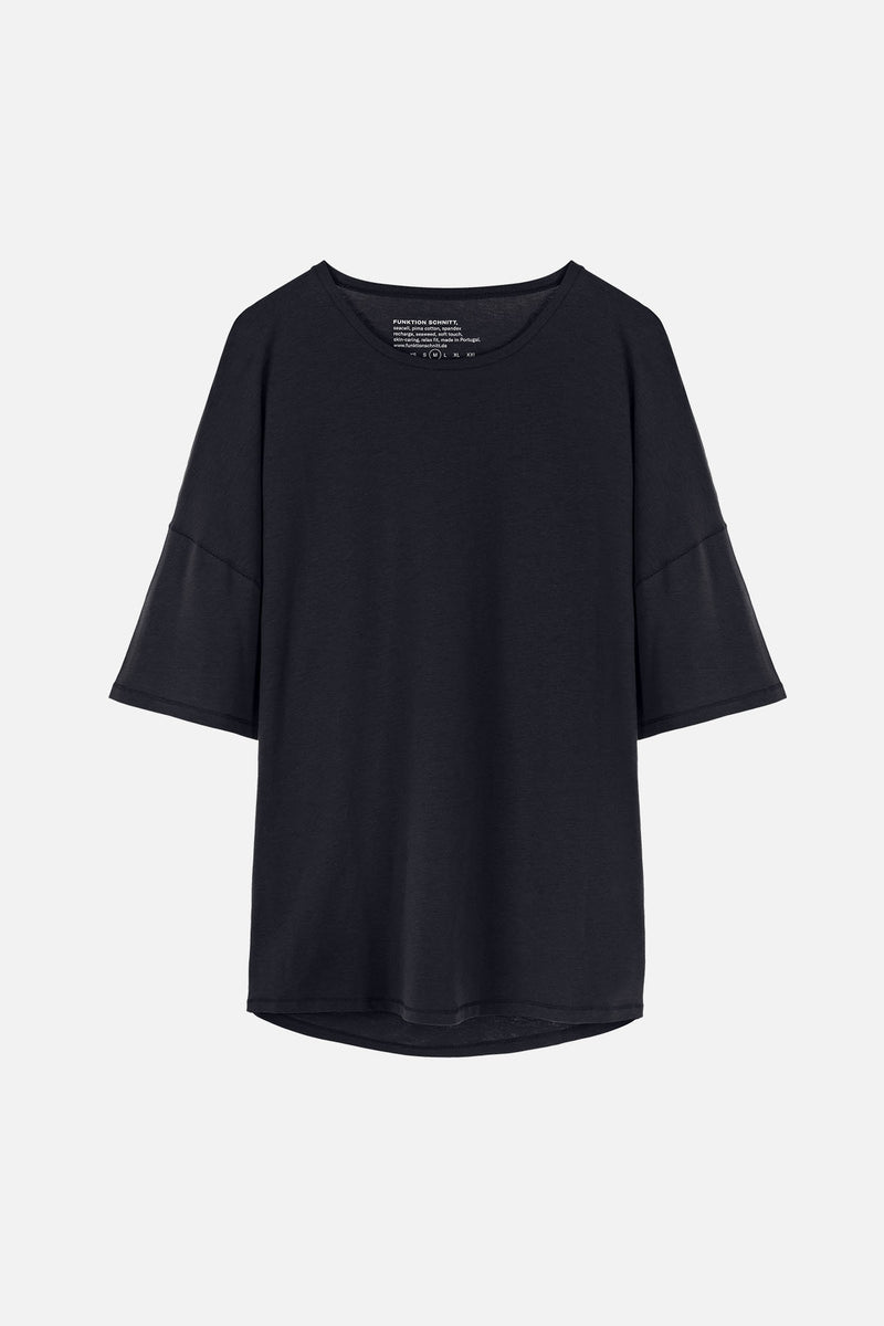 RECHARGER T-Shirt in SeaCell schwarz Passform relaxed Freisteller