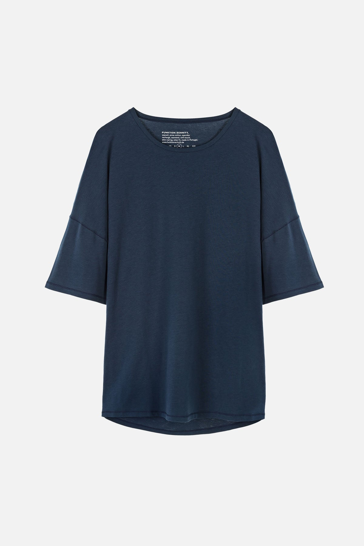 RECHARGER T-Shirt in SeaCell navy Passform relaxed Freisteller