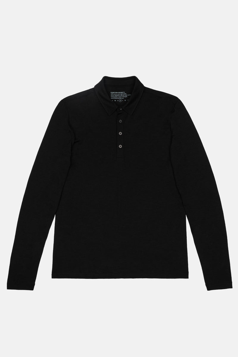 SOURCE | Polo Langarmshirt aus Merino