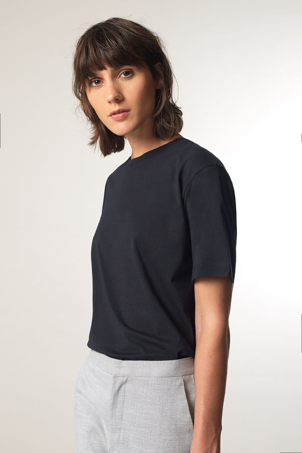 TONE T-shirt in Bio-Baumwolle midnight Passform relaxed vordere Ansicht