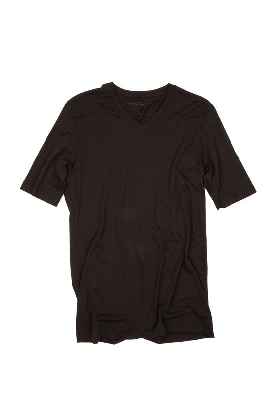 BLEND T-Shirt in Tencel schwarz Passform slimfit Freisteller