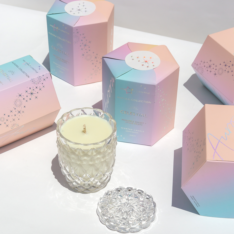 Aurora Candle – Celestial – Pineapple Sorbet + Stone Fruits