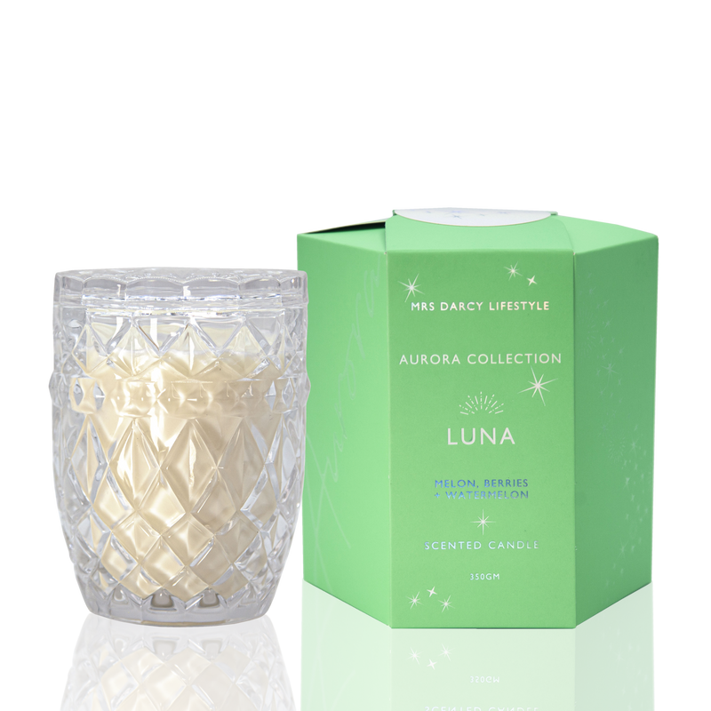 Aurora Candle - Luna - Melon, Berries + Watermelon