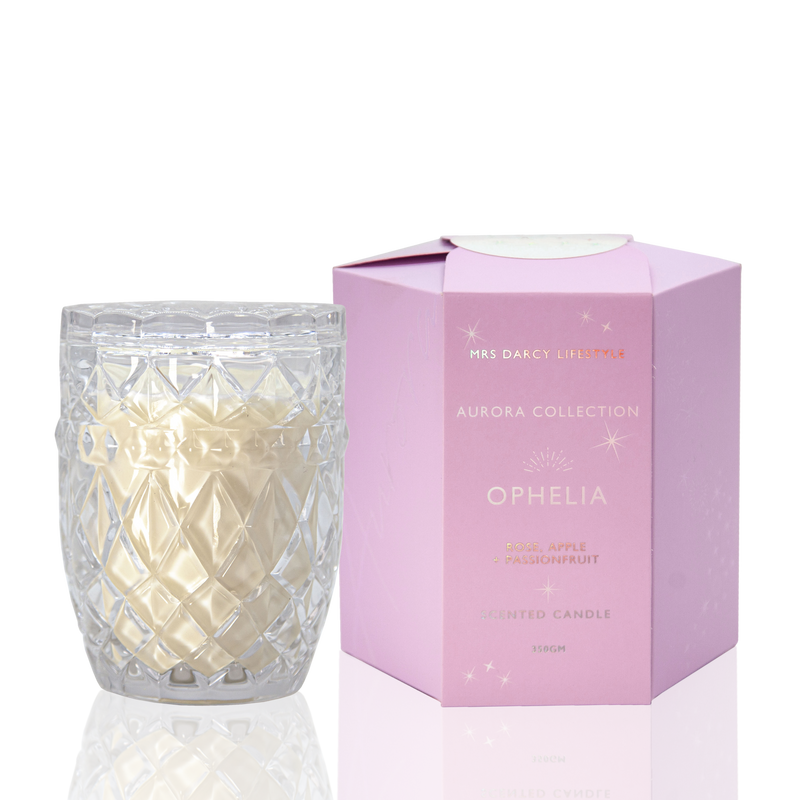 Aurora Candle - Ophelia - Rose, Apple + Passionfruit