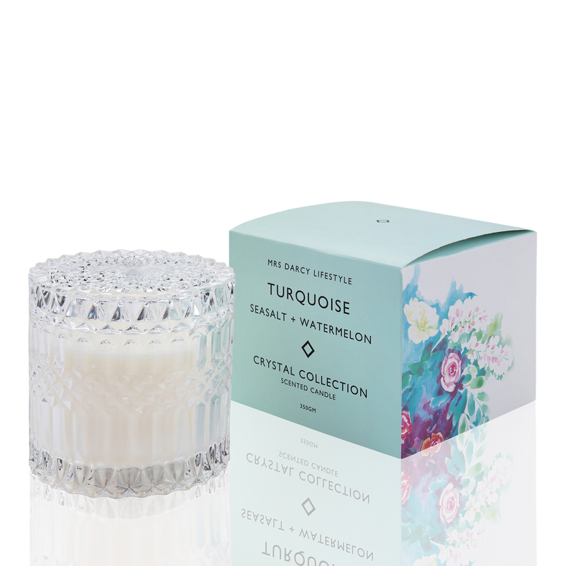Candle Turquoise - Seasalt + Watermelon
