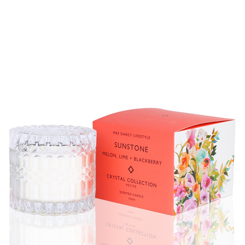 Candle Sunstone - Melon, Lime + Blackberry (Petite)