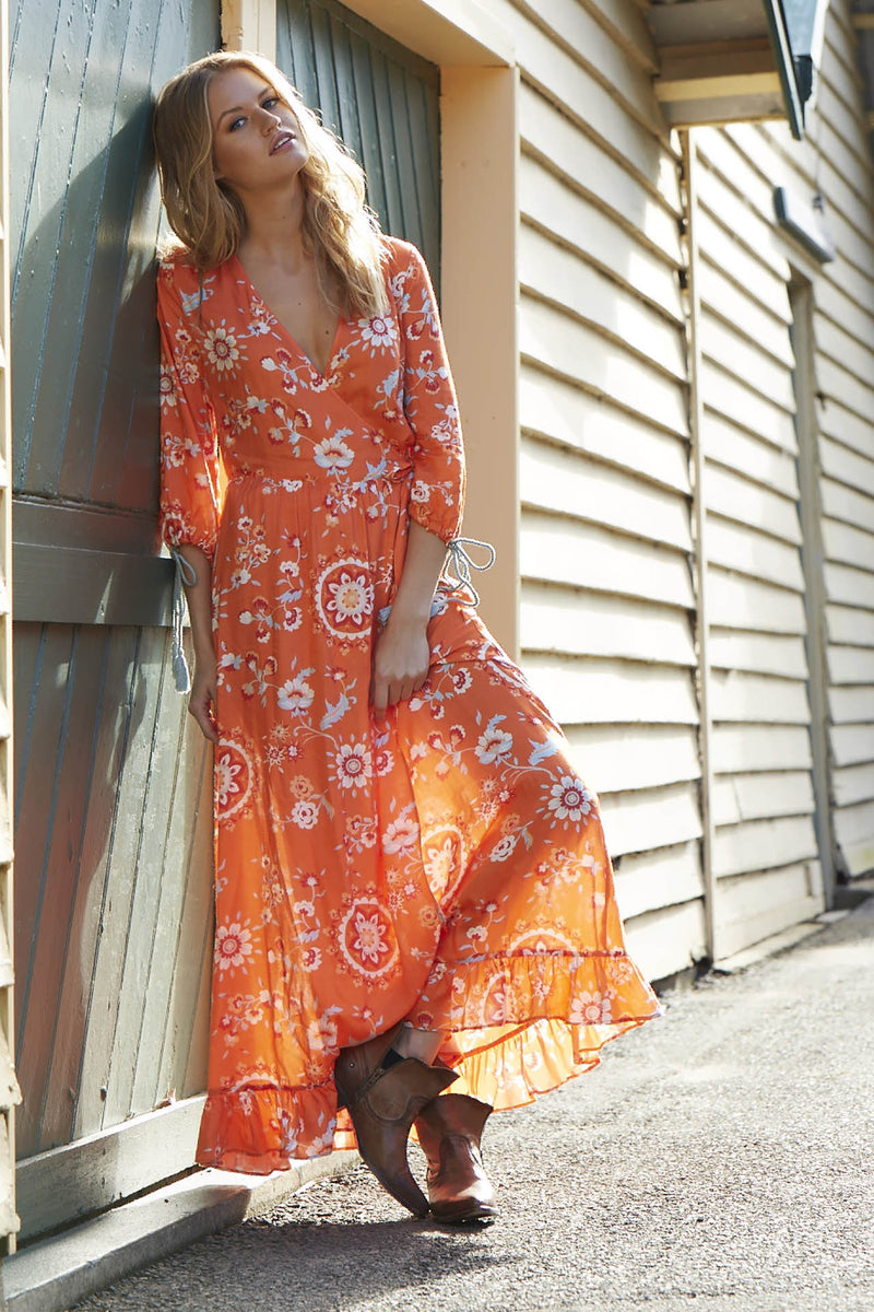 Eveille - Coconuts and Crystal Wrap Dress
